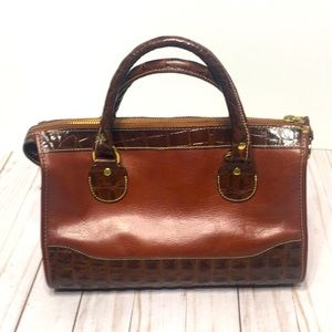 Brahmin handbag auburn brown vintage